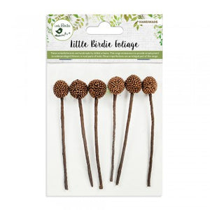 Little Birdie Handmade Flowers Allium Brown 6 pieces