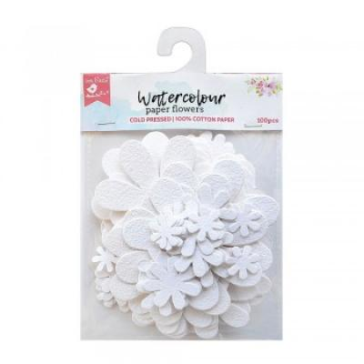 Little Birdie Handmade Flowers White Blooms 100 pieces