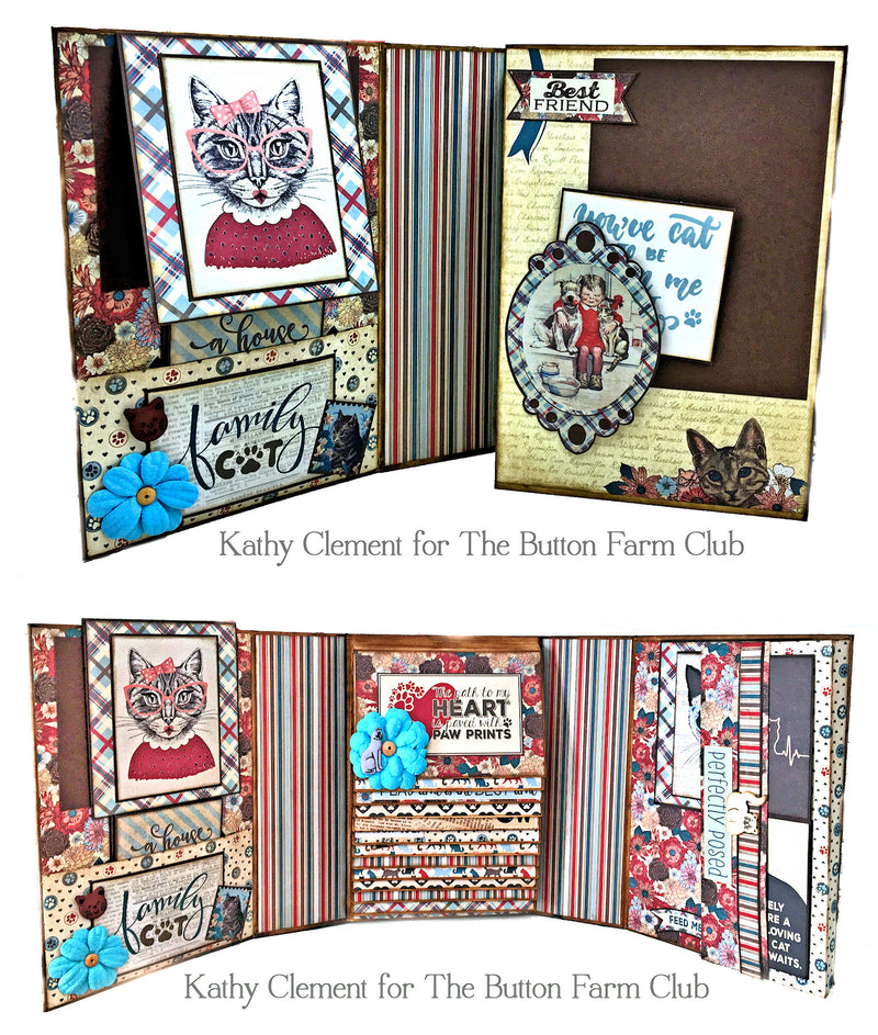 Things I learned from my CAT Mini Album by Kathy Clement ~ Tutorial ONLY