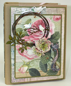 Stamperia Spring Botanic Mini Book by Nancy Wethington ~Tutorial