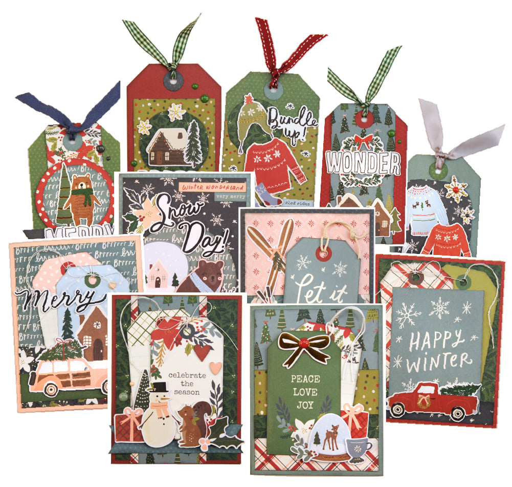 Winter Cottage Cards & Tags