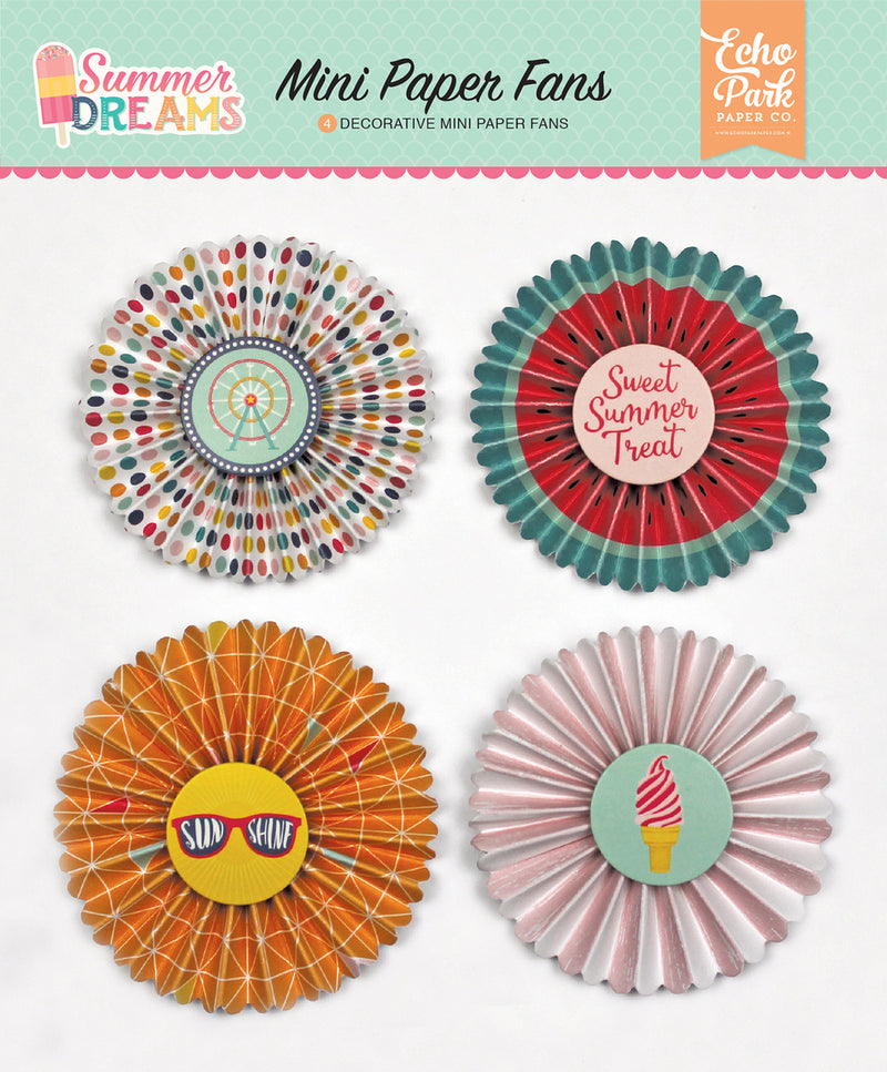 SUMMER DREAMS PAPER FANS by ECHO PARK