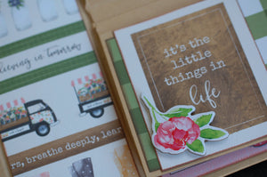 Spring Market Button Farm Club Mini Album ~TUTORIAL ONLY