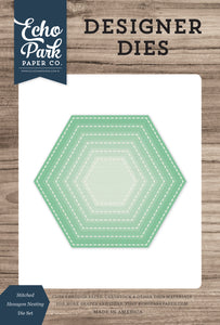 Stitched Hexagon Nesting Die Set **SHIPPING SEPTEMBER**