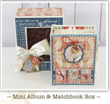 June Graphic 45 Monthly Class Series Vol 6 2019 - By the Sea Nesting Mini Album & Matchbook Box