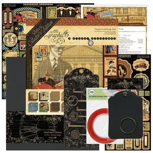 March Graphic 45 Monthly Class Series Vol 3 2019 - Board Book, Frame & Easel ~ Featuring A Proper Gent
