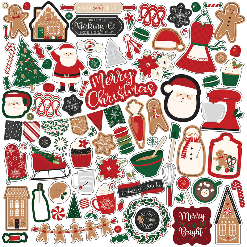 A Gingerbread Christmas Element Sticker