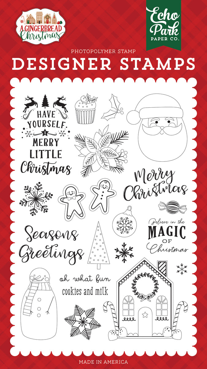 A Gingerbread Christmas Cookie & Milk Stamp Set