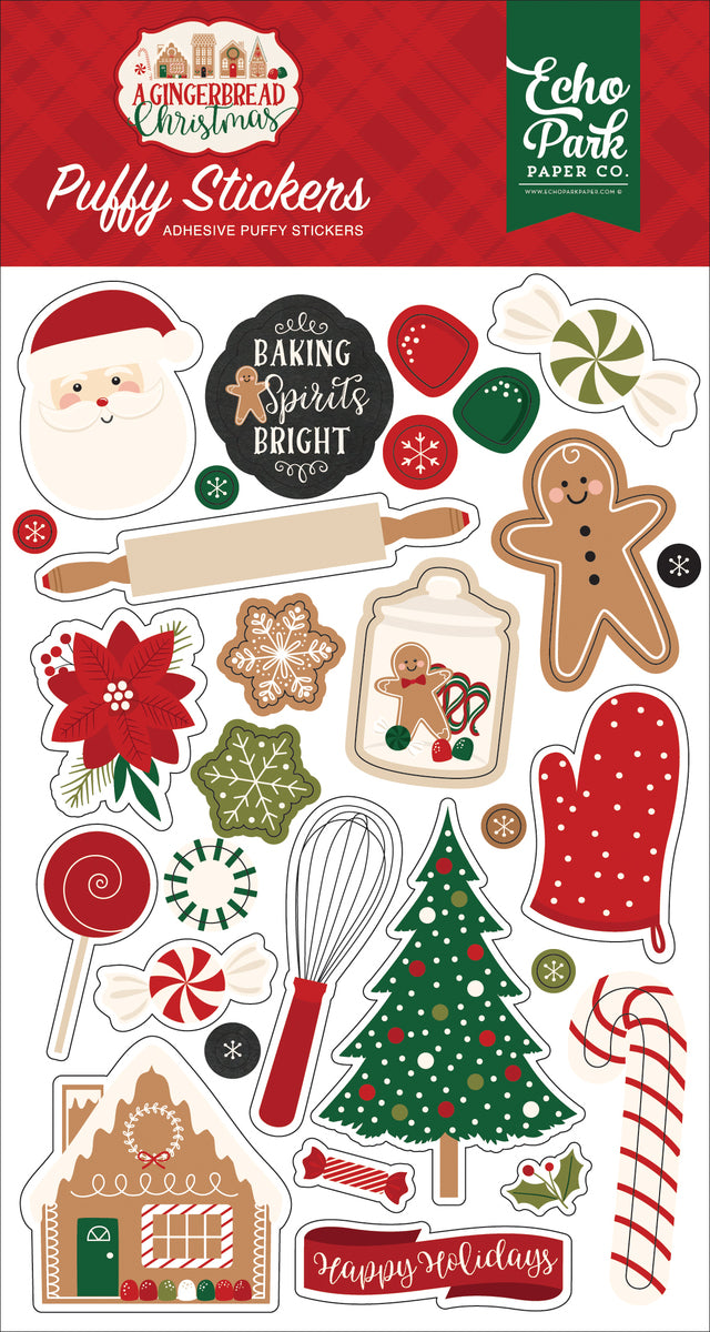 A Gingerbread Christmas Puffy Stickers