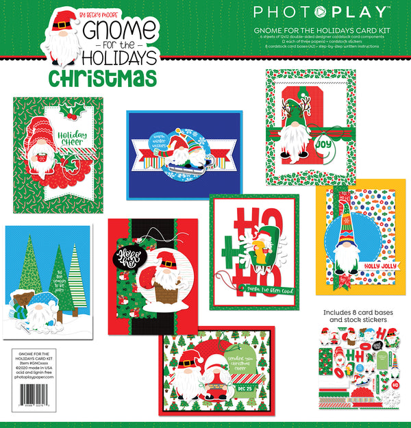 Gnome for the Holidays Christmas Card Kit by Photoplay Paper