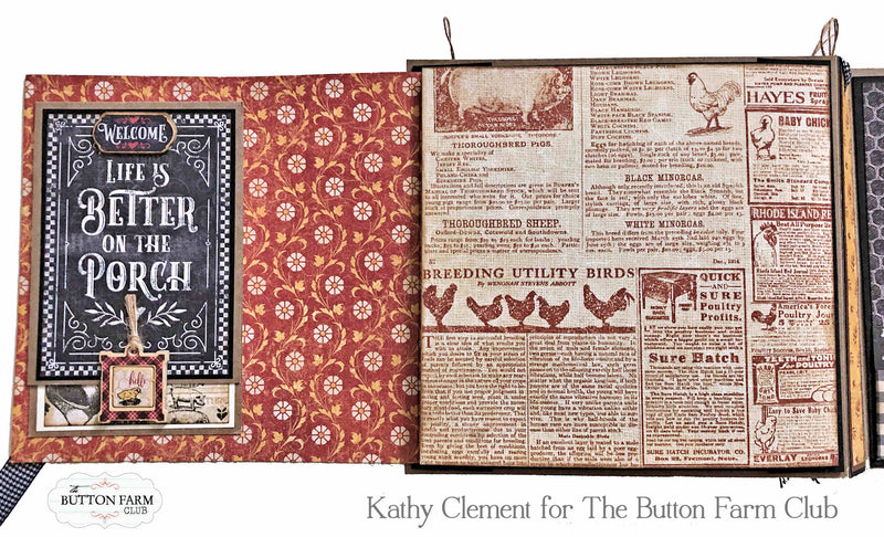 Graphic 45 Farmhouse Folio by Kathy Clement VIDEO TUTORIAL