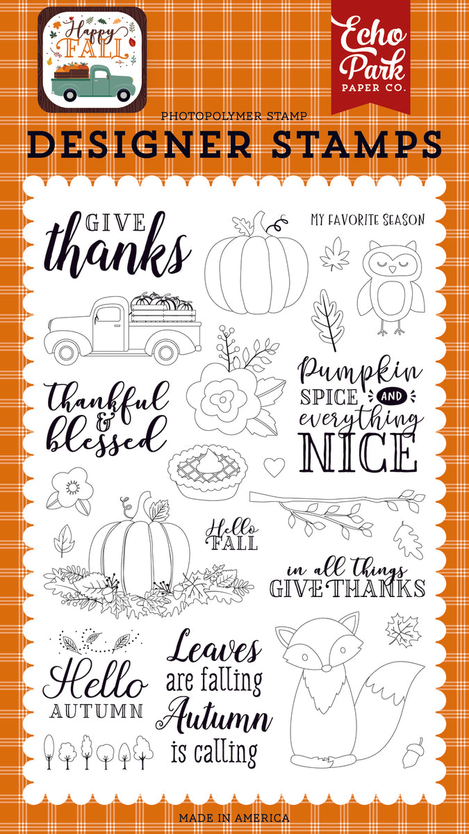 Give Thanks 4x6 Stamp Set