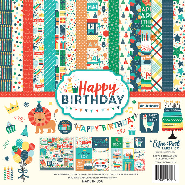 HAPPY BIRTHDAY BOY COLLECTION KIT by ECHO PARK