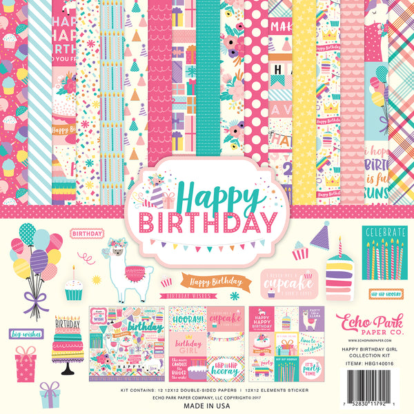 HAPPY BIRTHDAY GIRL COLLECTION KIT by ECHO PARK
