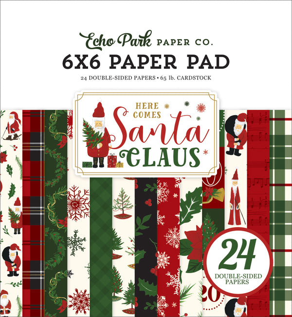 HERE COMES SANTA CLAUS 6X6 PAPER PAD by ECHO PARK