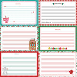 Not A Creature was Stirring Recipe Cards Paper - Horizontal