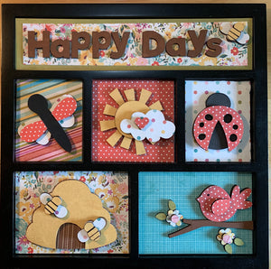 Happy Days Shadow Box Kit ~ papers included