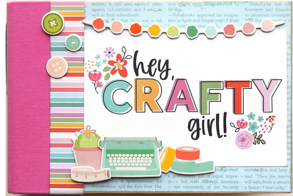 Hey Crafty Girl SN@P! Binder Kit by Simple Stories