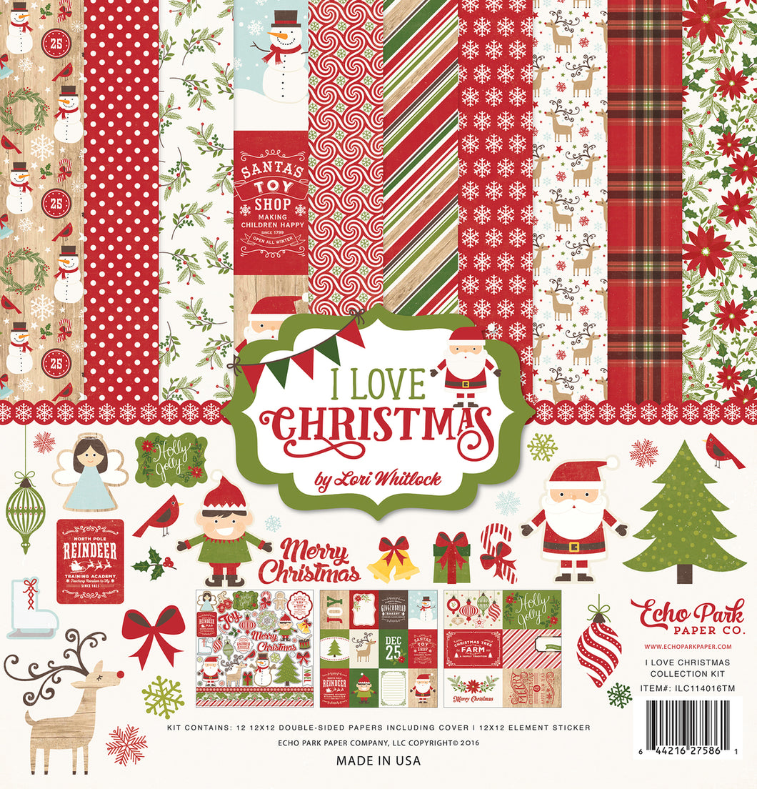 I LOVE CHRISTMAS COLLECTION KIT by ECHO PARK
