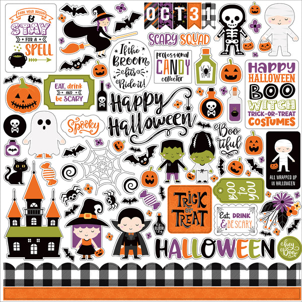 I Love Halloween Element Sticker