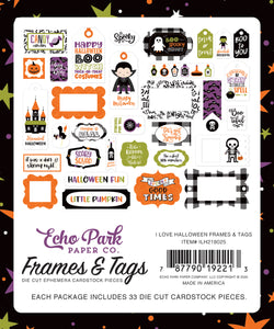I Love Halloween Frames & Tags