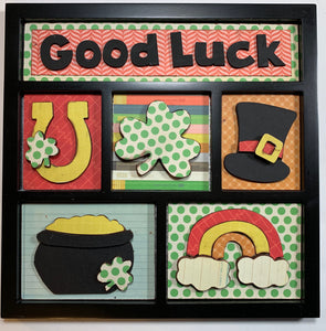 Good Luck Shadow Box Kit ~ papers included