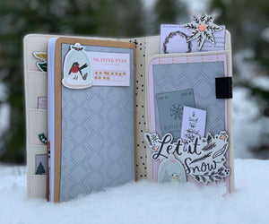 Snowflake Traveler's Notebook ~ by Angela Moen