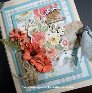 Gingham Gardens Mini Album by Nancy Wethington