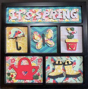 It's Spring Shadow Box Kit ~ papers included
