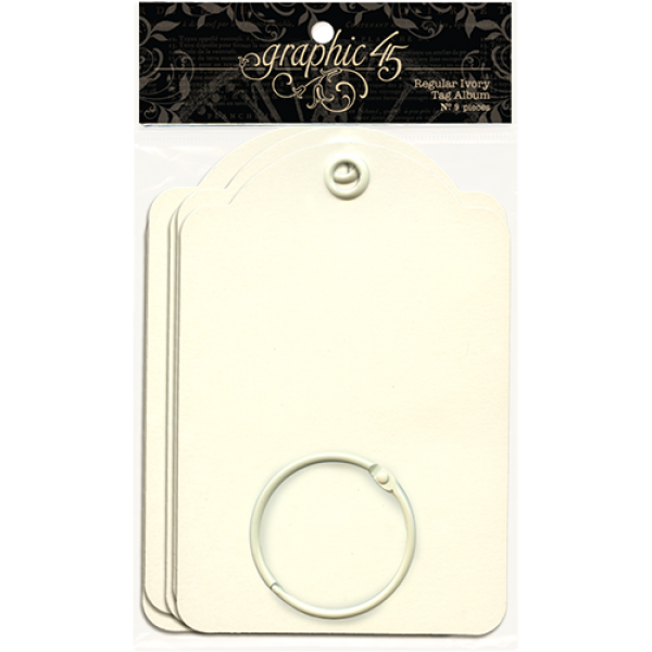 Graphic 45 Regular Tags—Ivory