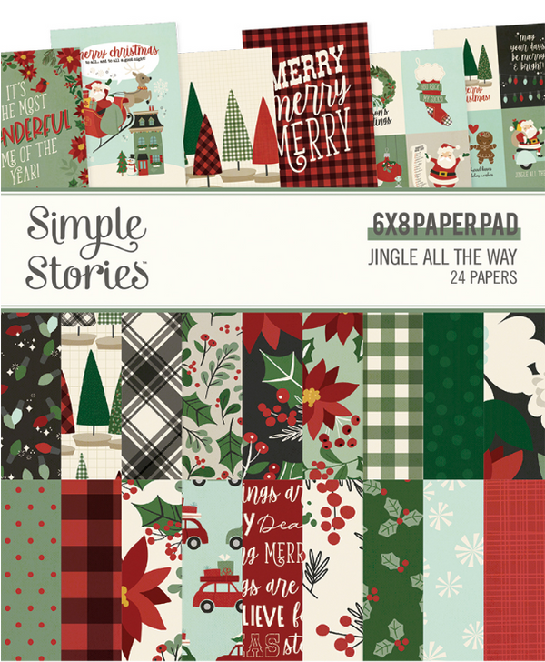 Jingle All the Way 6x8 Paper Pad by Simple Stories