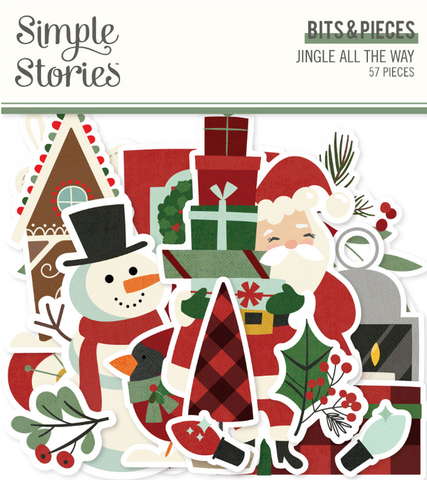 Jingle All the Way Bits & Pieces by Simple Stories