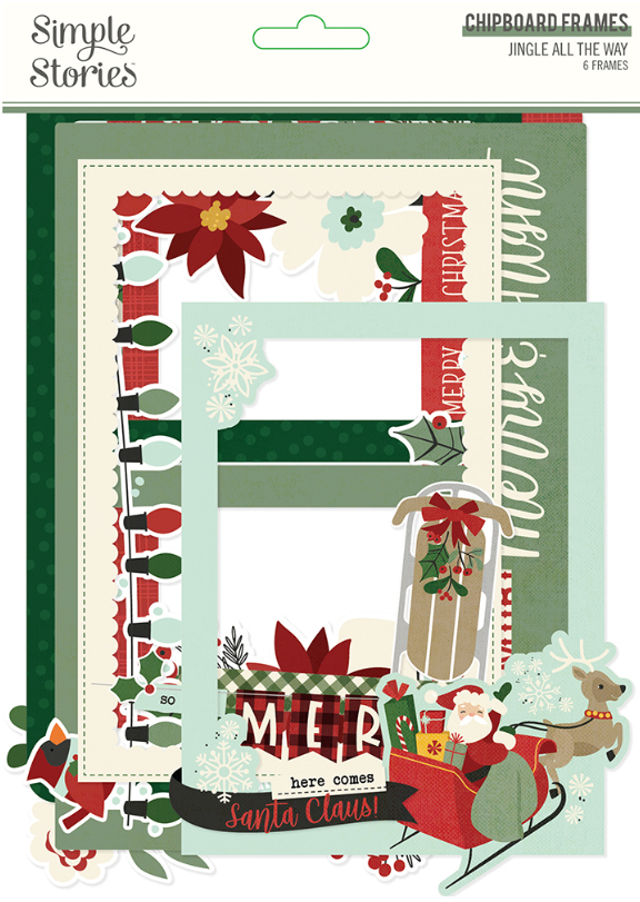 Jingle All the Way Chipboard Frames by Simple Stories