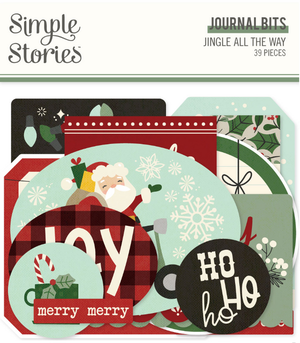 Jingle All the Way Journal Bits & Pieces by Simple Stories