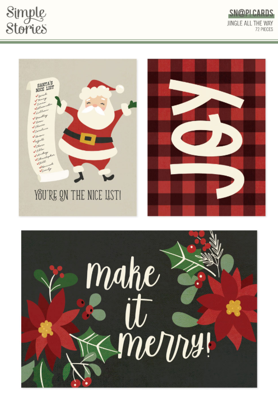 Jingle All the Way SN@P! Cards by Simple Stories