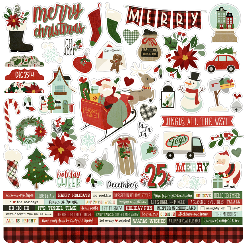 Jingle All the Way Cardstock Sticker by Simple Stories