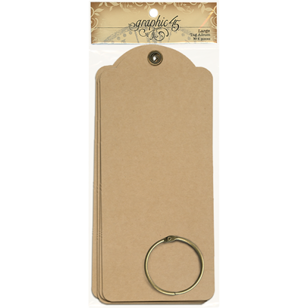 Graphic 45  Large Tags—Kraft