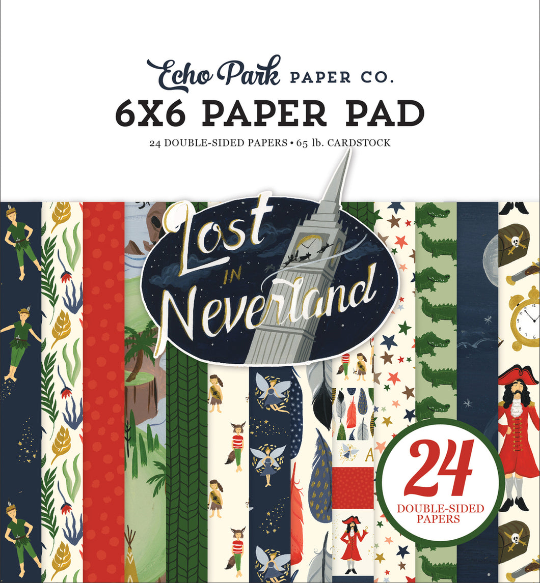 LOST IN NEVERLAND 6X6 PAPER PAD by ECHO PARK