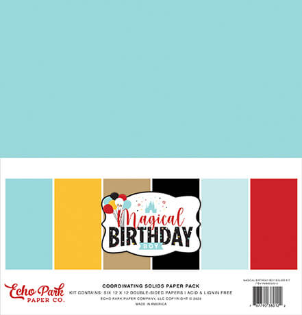 Magical Birthday Boy Solids Kit