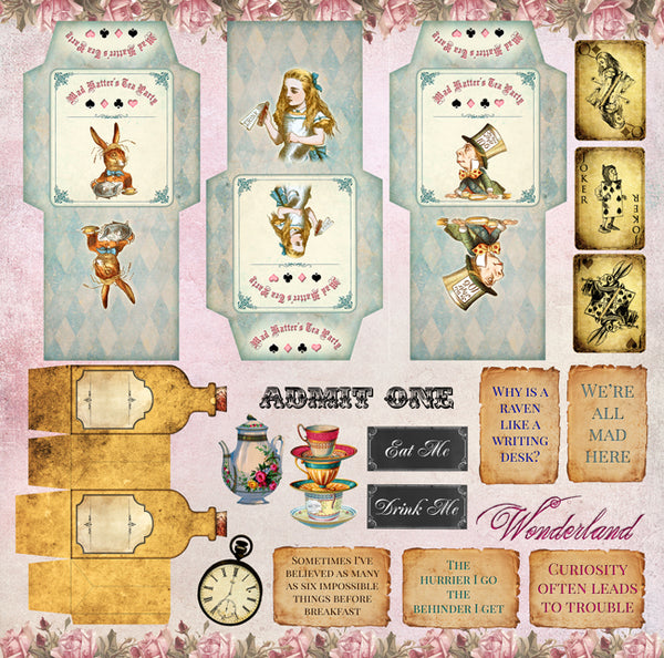 Alice's Tea Party 12x12 Collection Pack