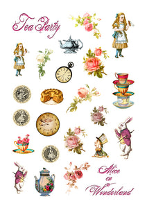 Alice's Tea Party Die Cuts