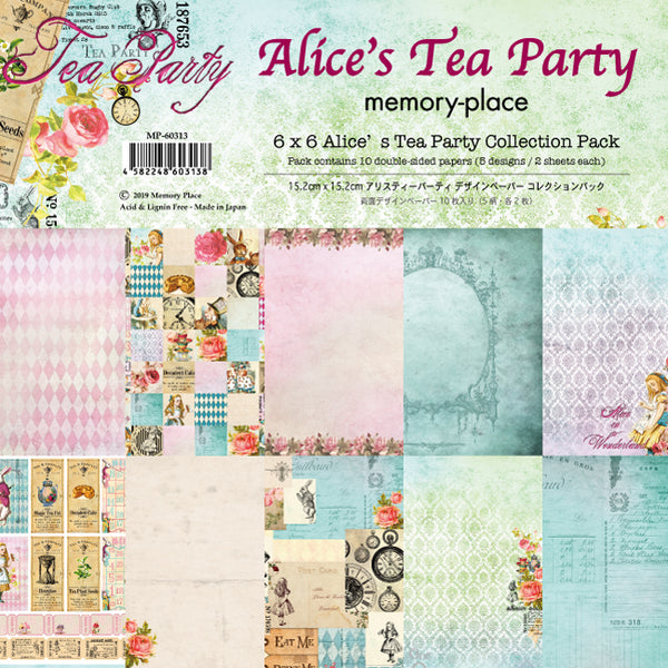 Alice's Tea Party 6x6 Collection Pack