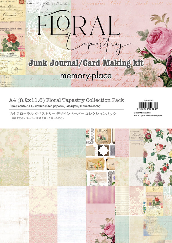 Floral Tapestry A4 Junk Journal - Card Making Kit