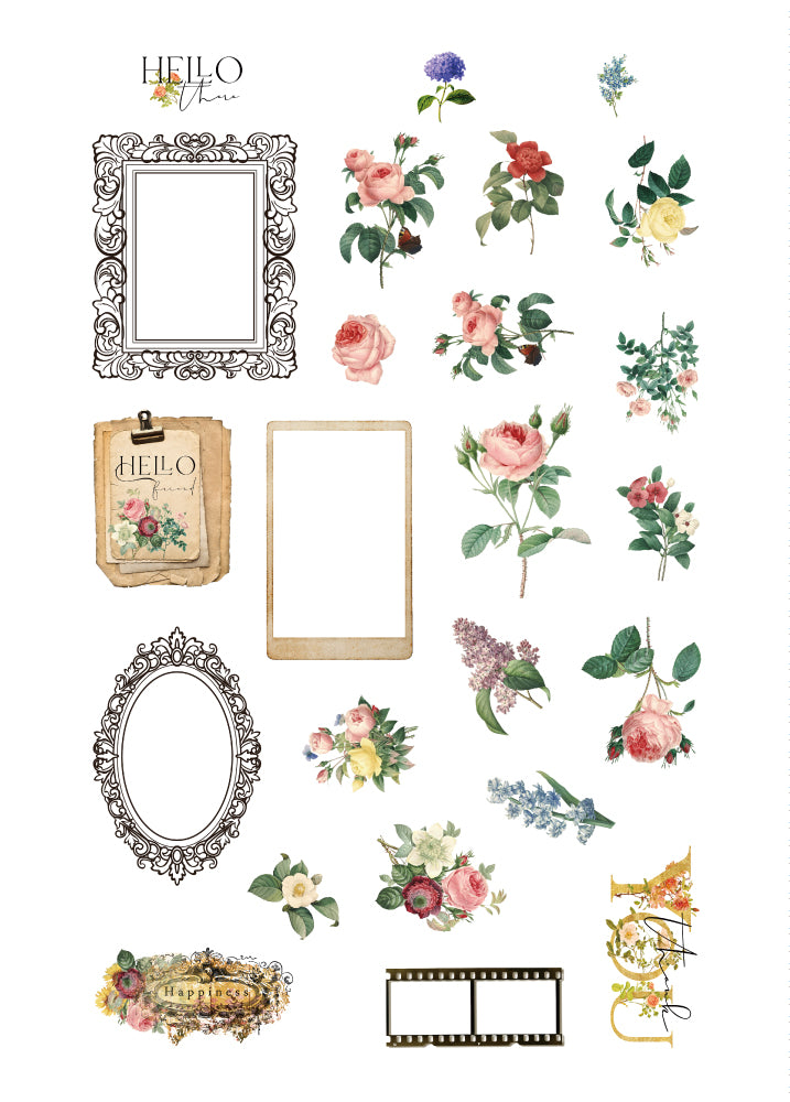 Floral Tapestry Ephemera Pack
