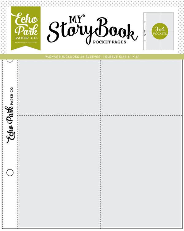 My Story Book Pocket Pages 3x4 Pocket by Echo Park