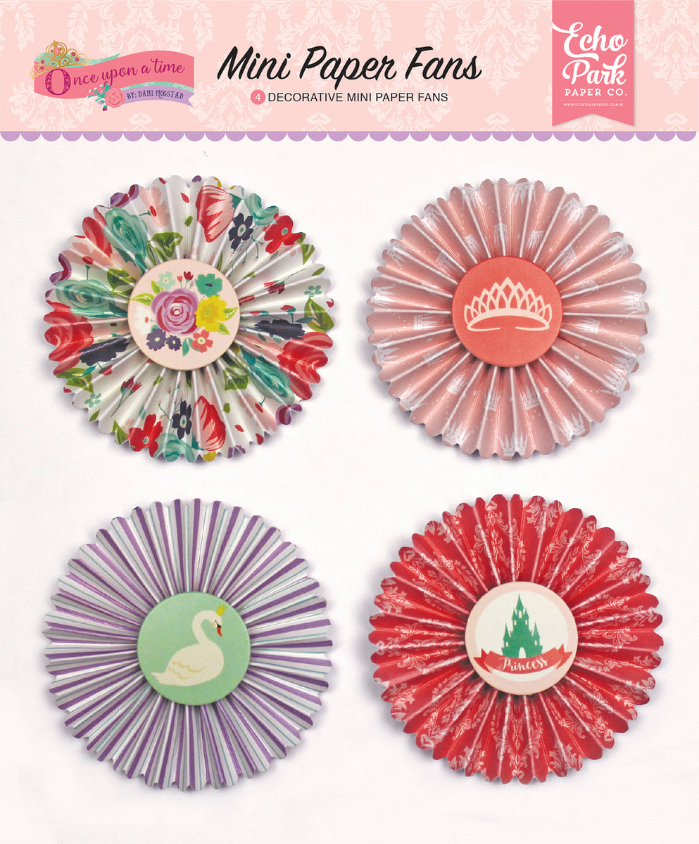 ONCE UPON A TIME PRINCESS MINI PAPER FANS by ECHO PARK