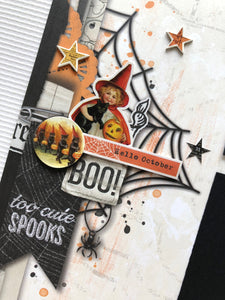 """Vintage Halloween"" Page Kit by Mary-Ann Maldonado"