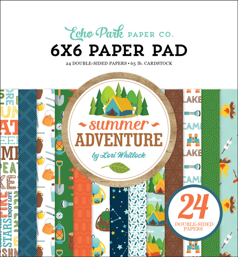 SUMMER ADVENTURE 6X6 PAPER PAD by ECHO PARK