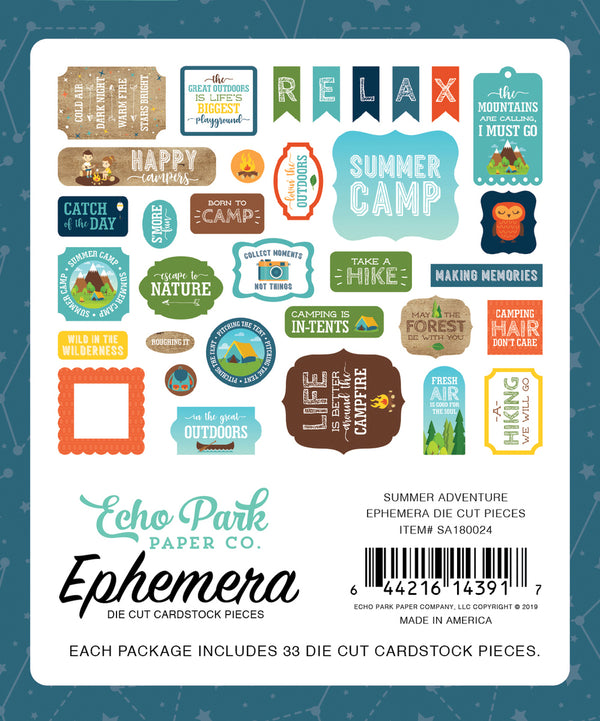 SUMMER ADVENTURE EPHEMERA by ECHO PARK