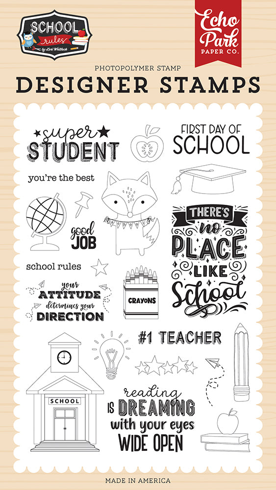 Super Student Stamp Set by Echo Park